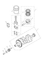 Crankshaft, Connecting Rods, Pistons & Liners