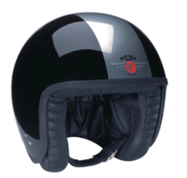 Davida jet helm zwart zilver
