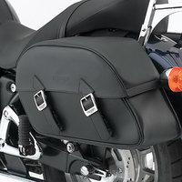 Leather saddlebags- large