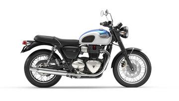 Bonneville T100 Fusion White/ Aegean Blue