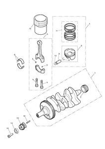Crankshaft, Connecting Rods, Pistons & Liners