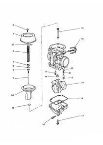 Carburettor Parts Carburettor assembly T1240194